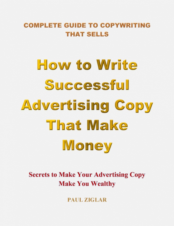 cover book for How to Write Successful Advertising Copy That Make Money