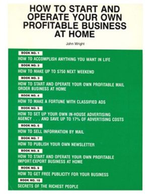 cover book for How to Start and Operate Your Own Profitable Business at Home