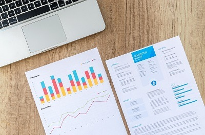 graphs and charts along with research document