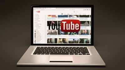 computer laptop showing planning videos to be displayed on YouTube